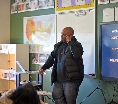 Kiese Laymon Visits Carver High School Students
